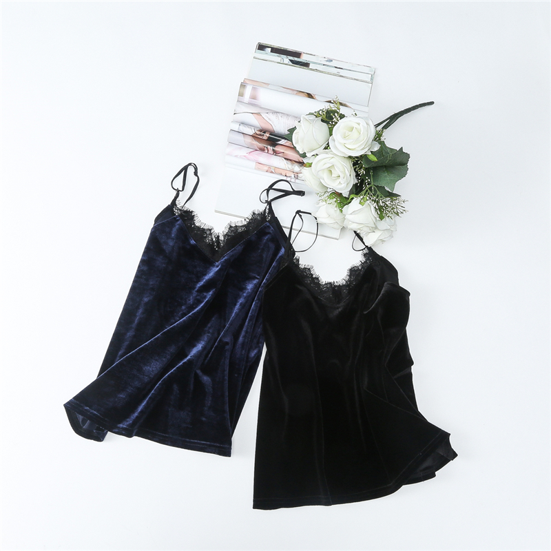 sleeveless sexy Backless slim velvet top clothes women summer tops 2018 fashion plus size tank vest bustier halter top camisole