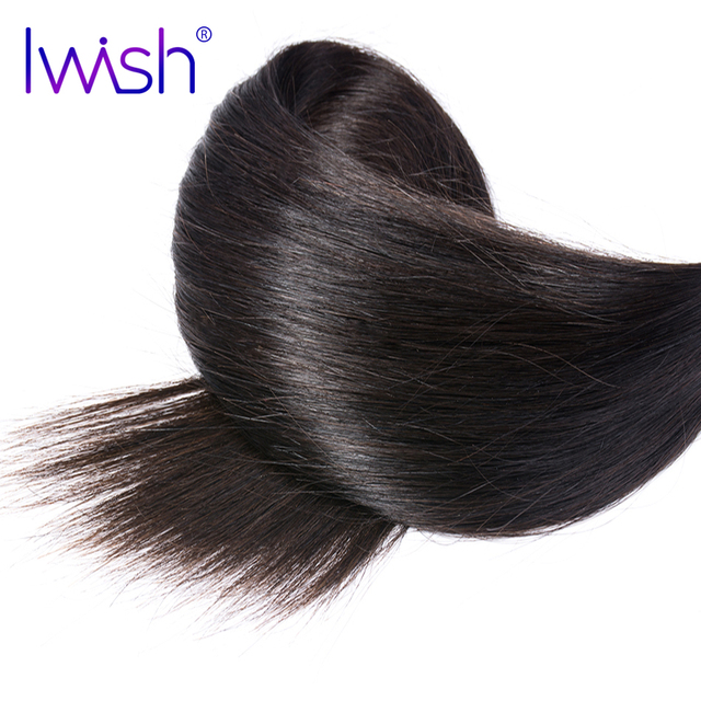 Iwish Straight Hair Weave Peruvian Human Hair Bundles Remy Hair