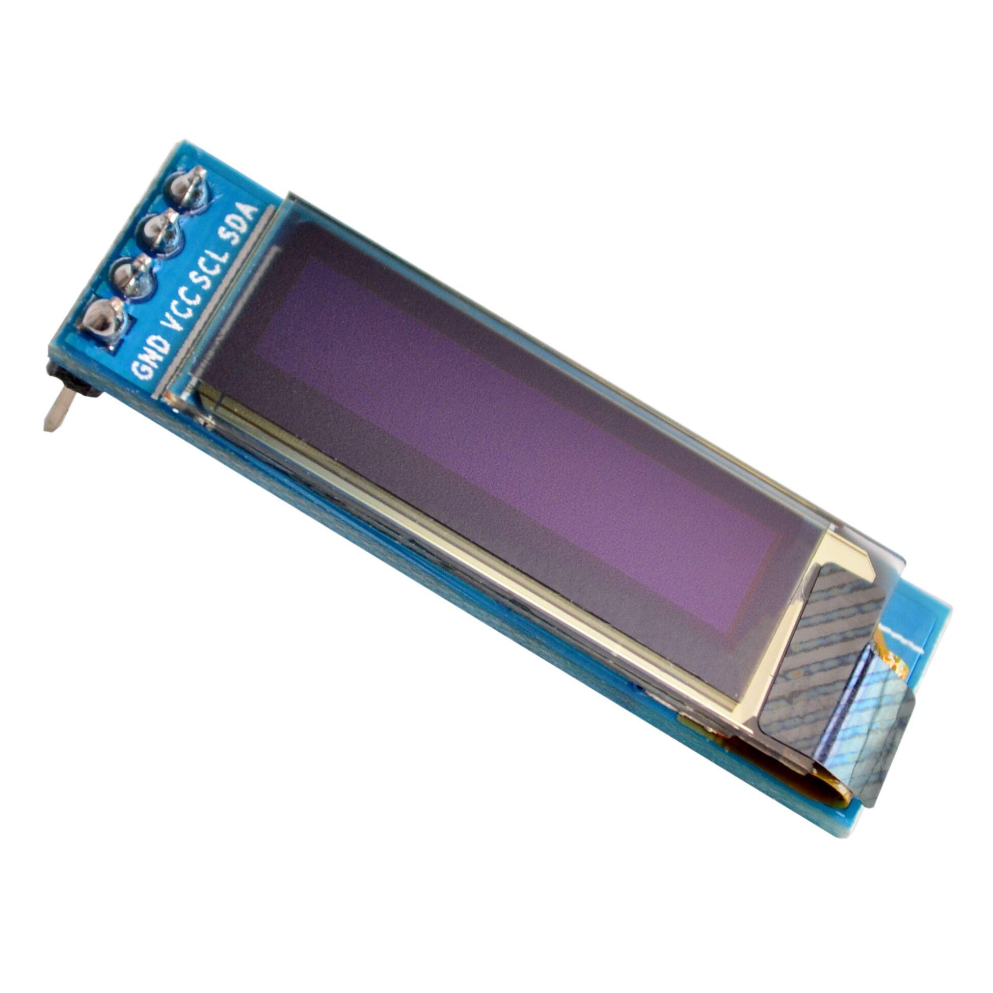 """0,91 дюймов 12832 белый и синий цвет 128X32 светодиодный ЖК-дисплей светодиодный Дисплей модуль 0,91 """"IIC общаться"""