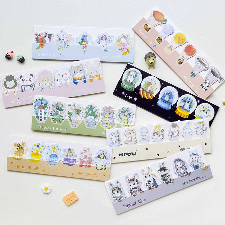 20 sets/1 lot Creative sit in rows Memo Pad Sticky Notes Escolar Papelaria School Supply Bookmark Post it Label