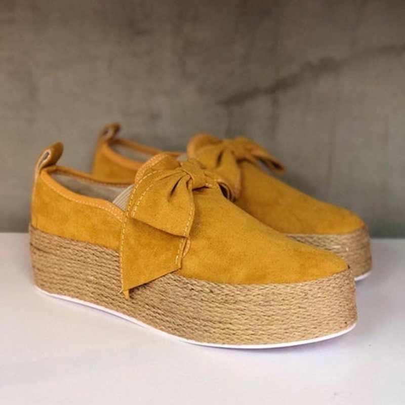SHUJIN 2020 bahar kadın Flats ayakkabı platformu Sneakers daireler üzerinde kayma deri süet bayanlar loafer'lar Moccasins rahat ayakkabılar