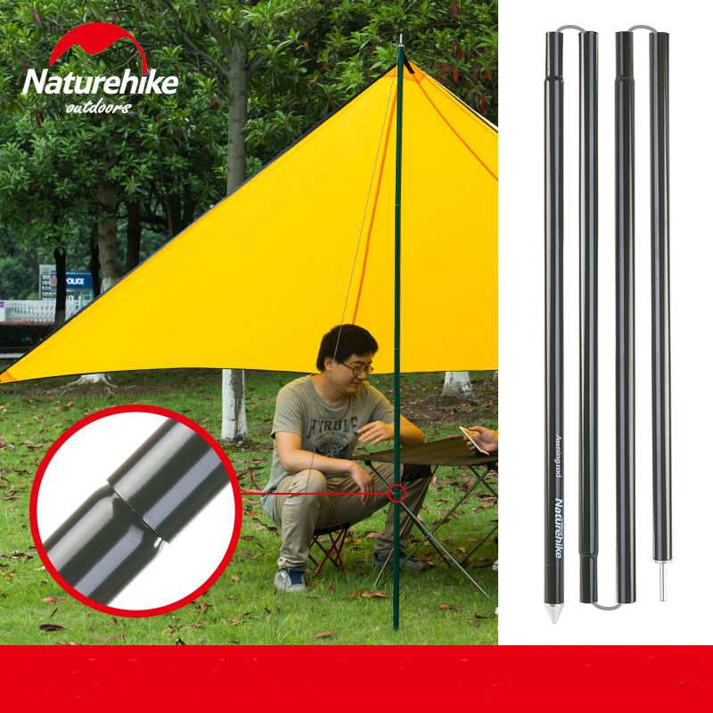 2 Meters Awning Aluminum Rod 4 Section/PC Pole For Tent Awnings Sunshade Shade Shed DIY C&ing Accessories 2PC/Lot Green-in Tent Accessories from Sports ... & 2 Meters Awning Aluminum Rod 4 Section/PC Pole For Tent Awnings ...