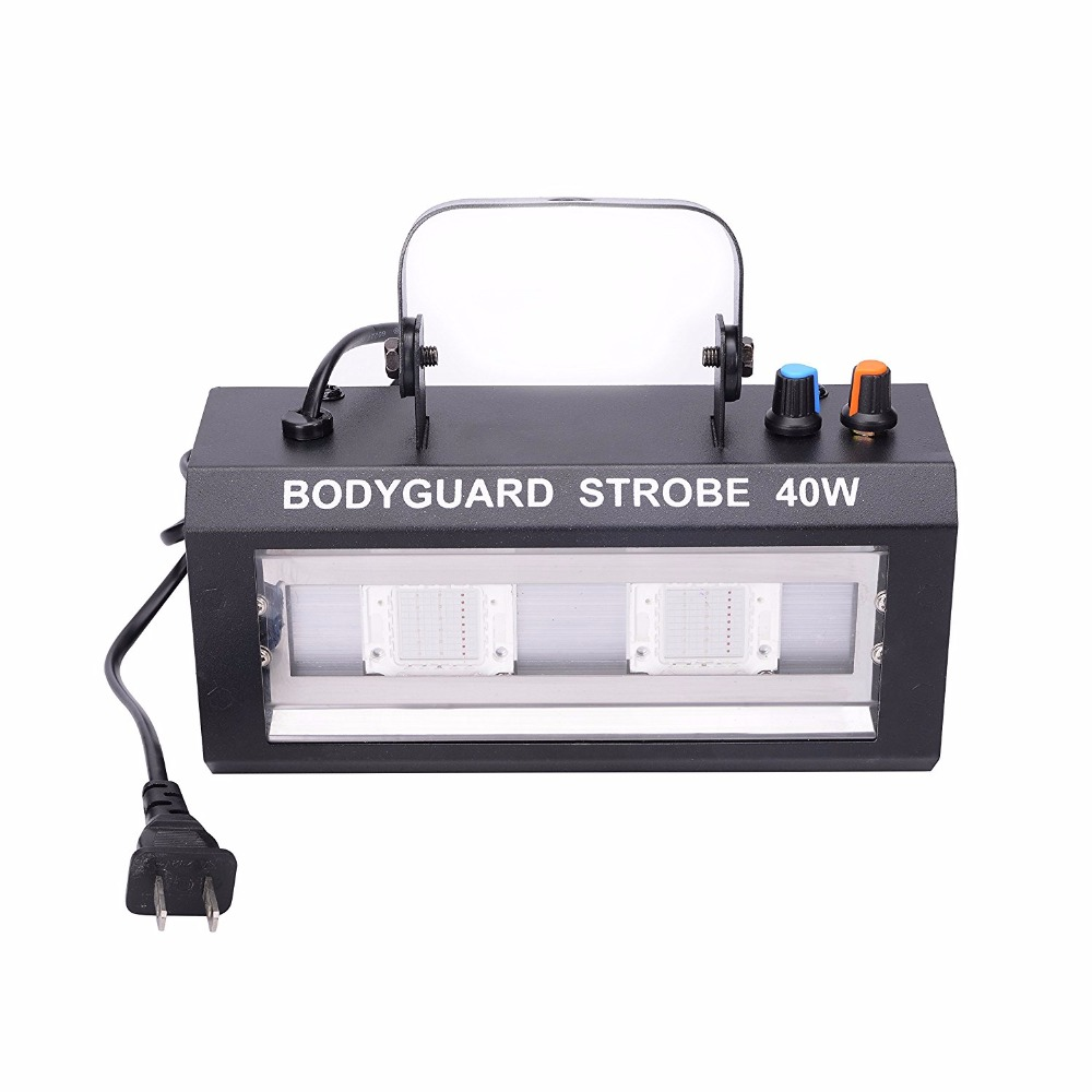Metal auto Music sound activated 40W 2led strobe led stage lights DMX512 strobe stage flash lighting