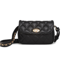 Functional Lattice Fanny Bag Women Waterproof Waist Pack Money Phone Belt Bag Hip Chest Bum Bag Unique Shoulder Belt Bag Black