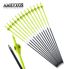 15pcs 30inch Spine 500 Carbon Arrows Fit For 20-60lbs Bow Shooting Hunting Sports Archery Accessories
