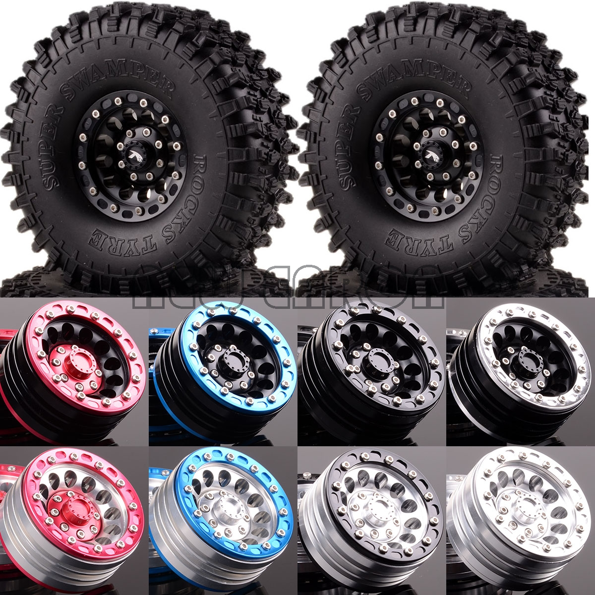 NEW ENRON 1 10 4P RC 1 10 Rock Crawler 1 9 Metal Wheel 120mm Super