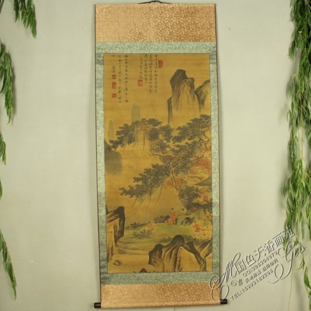 China Antique collection font b Calligraphy b font and font b painting b font landscape font