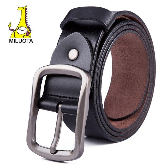 2015 высокое качество подлинного кожаный ремень мужской металл пряжкой  бизнес