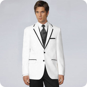White Men Suits for Wedding Suits Slim Fit Formal Prom Party Custom Blazer Groom Wear Tuxedos Best Man Terno Masculino 3Pieces