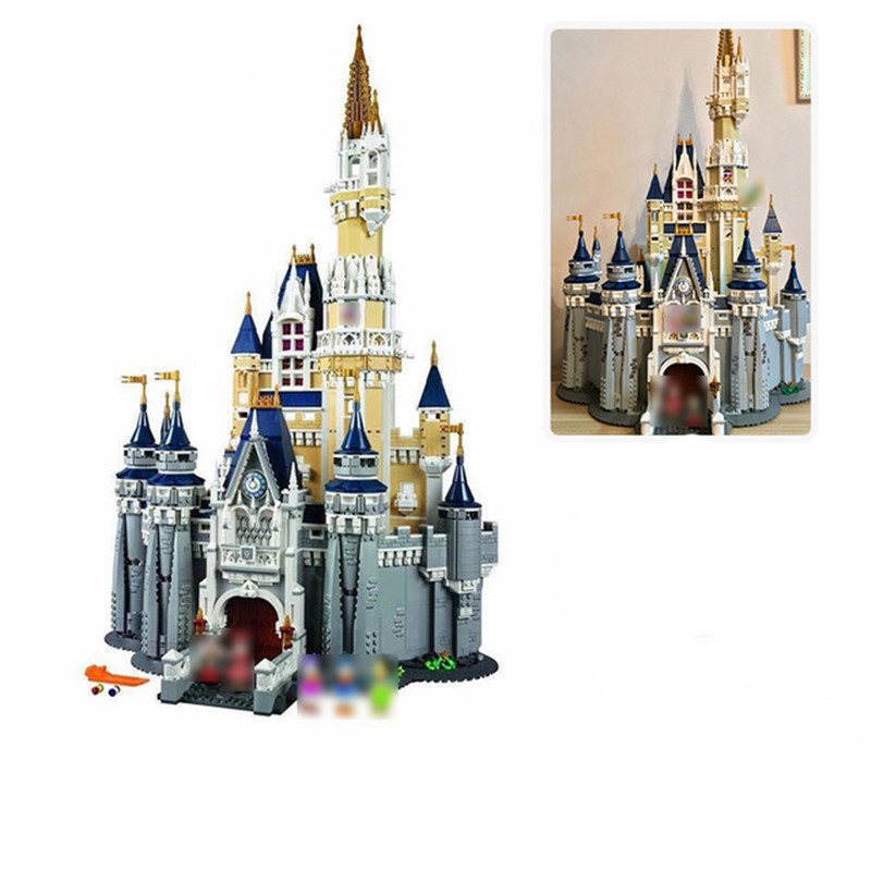 4080pcs Cinderella Princess Castle City Model Building Block Bricks Toy Compatible With 71040 Gift For Children Brinquedos new lepin 16008 cinderella princess castle city model building block kid educational toys for children gift compatible 71040