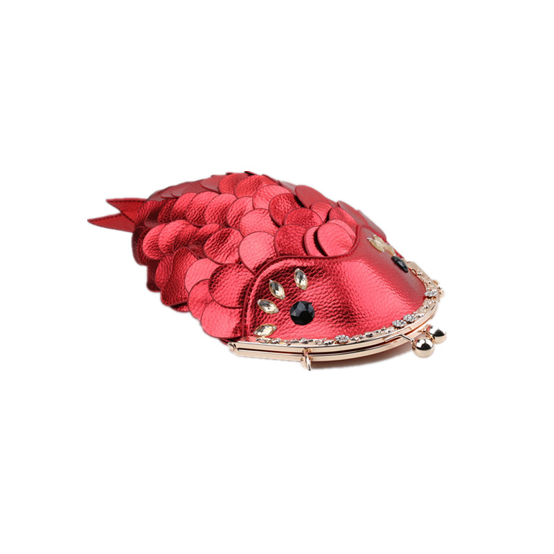 где купить Women Leather Shoulder Bag Fish Messenger Bags for Ladies Fashion Designer Messenger bags Luxury Evening Small Bags 2017 по лучшей цене