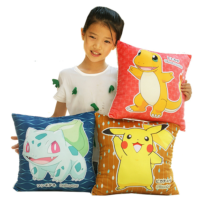 Pikachu Raichu Gardevoir Square Pillow Super soft short plush Toy Plush Doll Figure Toy 8 style