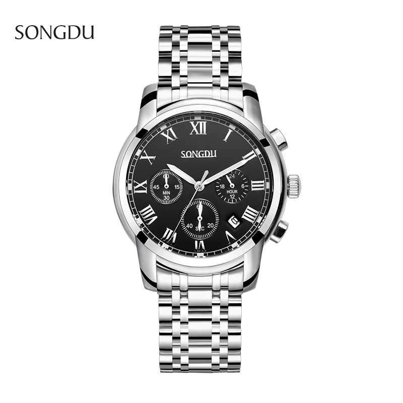 SONGDU Watch Men font b Quartz b font Watch Luxury Brand font b Men s b