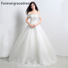 Forevergracedress Vintage Cheap Wedding Dress Ball Gown Off The Shoulder Applique Lace Long Bridal Gown Plus Size Custom Made