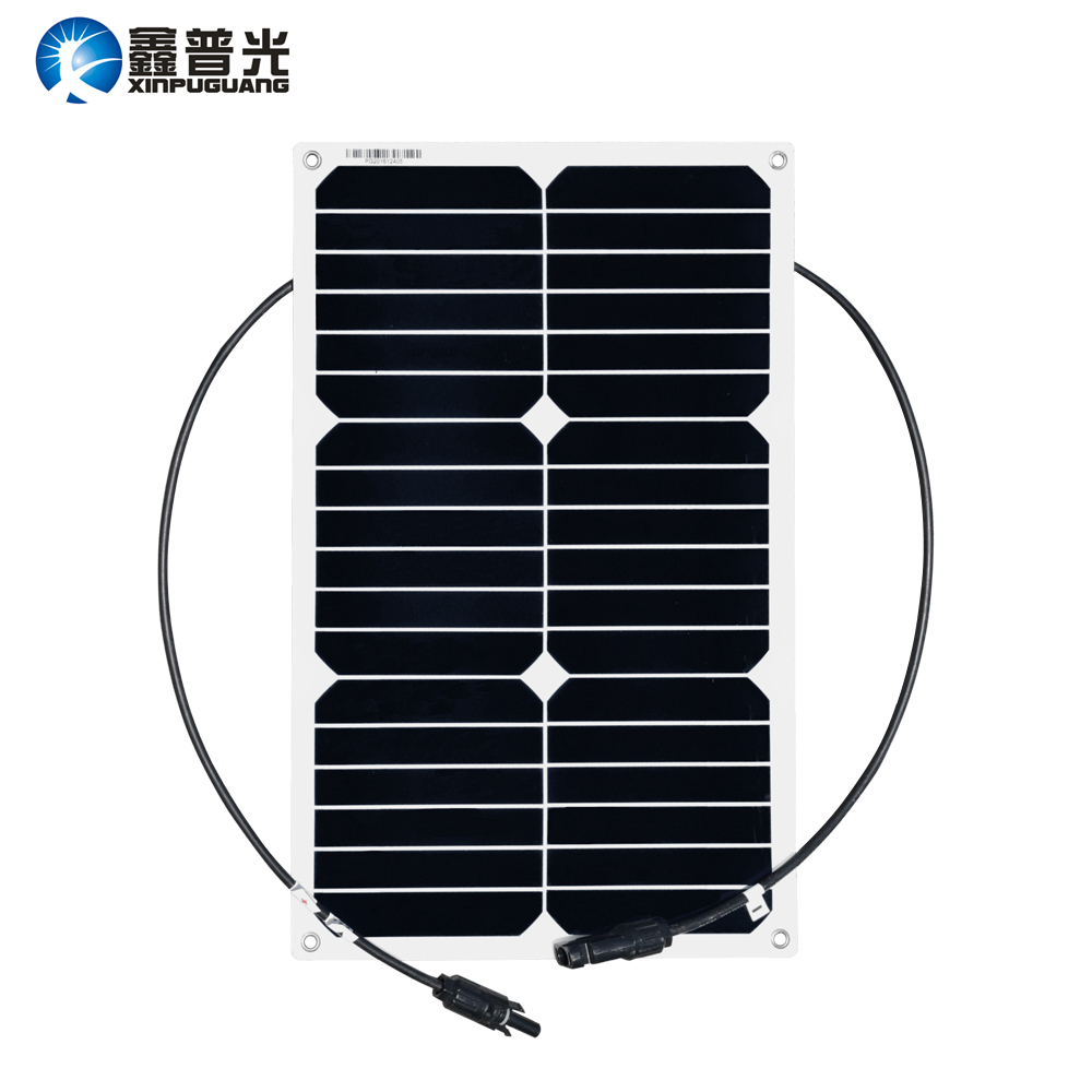 Xinpuguang 18W 20V Flexible Solar Panel System Quality Light Module for Marine Yacht Boat RV Battery Charger Factory Directly heavy duty 60v 600a marine dual battery selector switch for boat rv semi motor yacht boats red abd black