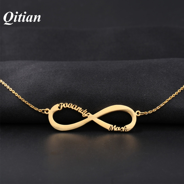Infinity name necklace gold color stainless steel choker custom infinity name necklace gold color stainless steel choker custom necklaces pendants romantic gift personalized jewelry aloadofball Images