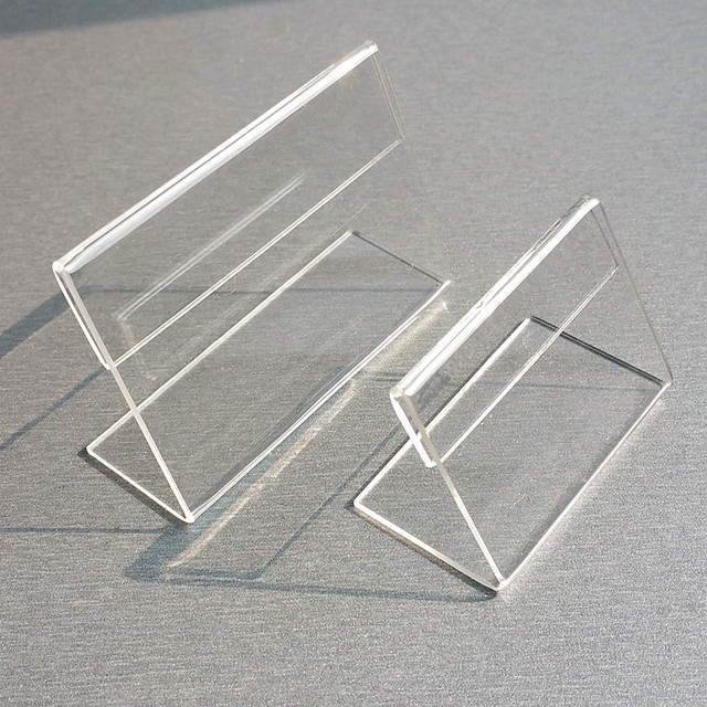 acrylic t1.3mm clear plastic table sign price tag label display