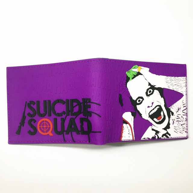 Comics Dc Marvel lovely joker the Avengers Suicide Squad Cartoon Wallet Cute 3D Purse Logo Credit Card Holder Man Wallet Girl's Shoes