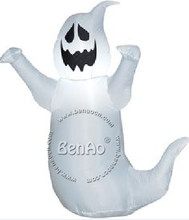 H021 2.5m Free shipping Inflatable Halloween Ghost with Lights Outdoor Halloween Decoration,inflatable halloween costume