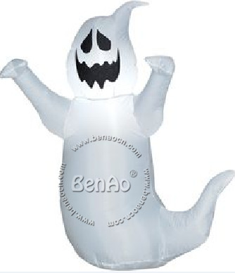 h021 25m free shipping inflatable halloween ghost with lights outdoor halloween decorationinflatable halloween