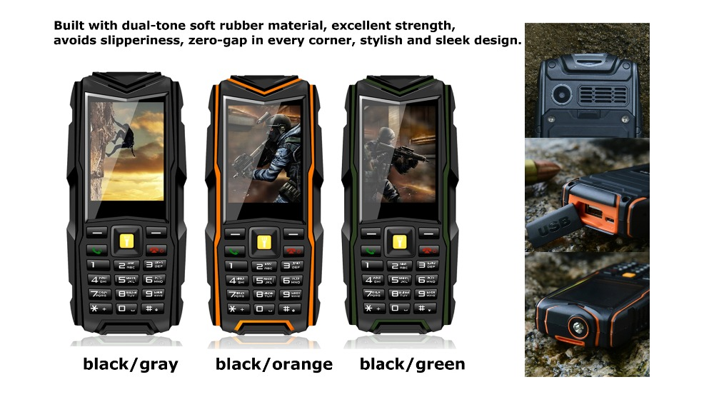Original VKWorld Stone V3 Waterproof / Dropproof / Dustproof Mobile Phone 2.4 inch 6531CA with Russian Keyboard GSM FM