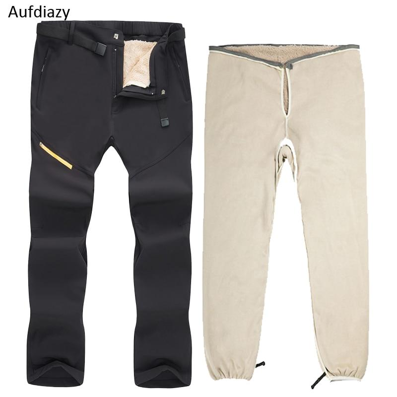 Aufdiazy-pantalon de Ski 30 degrés hiver pantalon imperméable extérieur épais chaud Snowboard pantalon de neige hommes Trekking randonnée pantalon IM037
