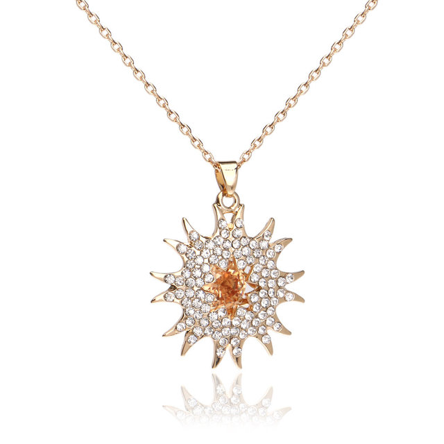 5pcslot 18k italian gold jewelry necklace jewelry crystal 5pcslot 18k italian gold jewelry necklace jewelry crystal sunflower rhinestone necklace mozeypictures Gallery