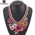 4 colores flor gargantilla colares femininos collar de mujer collares mujer moda bijuterias collier joias gargantilha XL1186