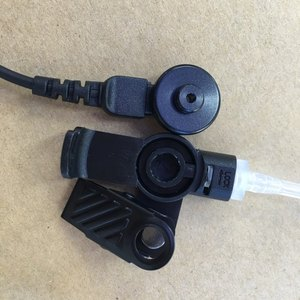 Image 5 - Big PTT clear air tube headset earphone M plug 2 pins for motorola A8,ep450,cp040,gp88s,gp2000,Hytera walkie talkie