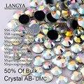 Embalaje a granel Brillante Piedras SS6 SS8 SS10 Flatback Mejor Calidad SS12SS16 SS20 SS30 SS34 SS40 Crystal AB Hotfix Rhinestones