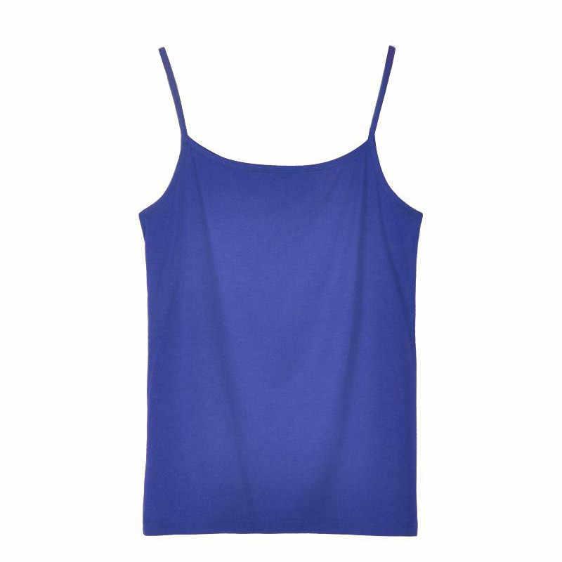 e5031d78aba ... Fashion Women Girls Summer Modal Plain Camisole Cami Classic Basic  Spaghetti Strap Layering Tank Tops New ...