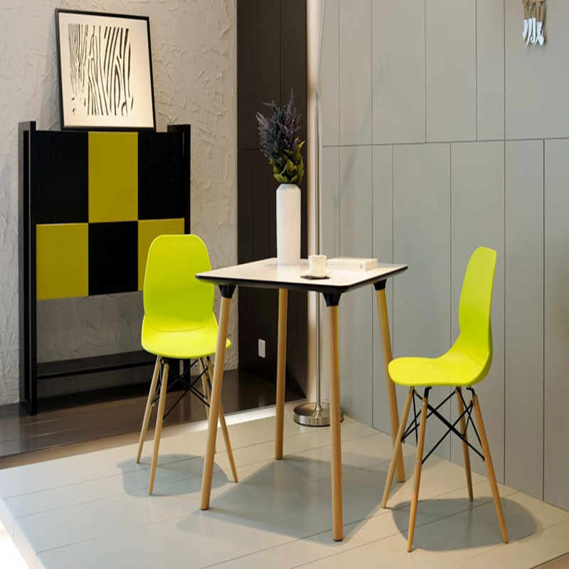 Fashion 100% Wooden & Plastic chair,white,Red blue,dining chair ...