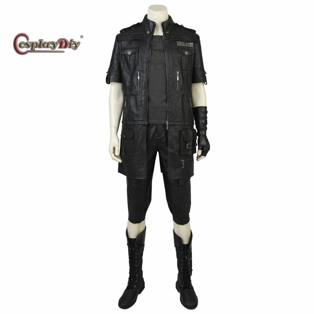 Cosplaydiy Custom Made Final Fantasy XV Noctis Lucis Caelum Cosplay Costume Adult Men Halloween Cosplay Outfit With Shoes J5