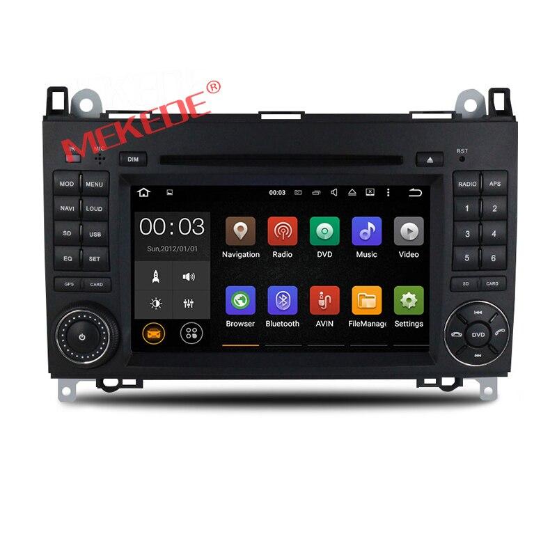 imágenes para Quad Core 1024*600 2 din DVD del coche del Androide 7.1 para Mercedes/benz B200 A160 Viano Vito GPS NAVI BT de RADIO incorporado wifi