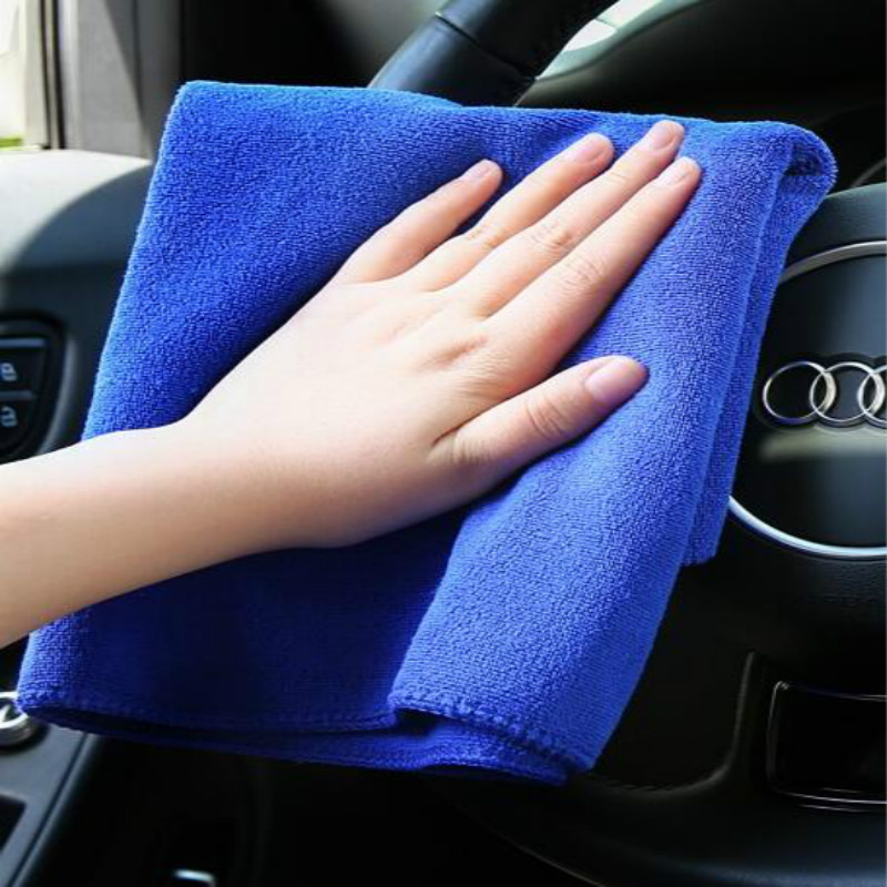 40*40cm microfiber towels for car wash cleaning car water Super absorbent wax Polishing Towel blue 3pcs/lot free shipping