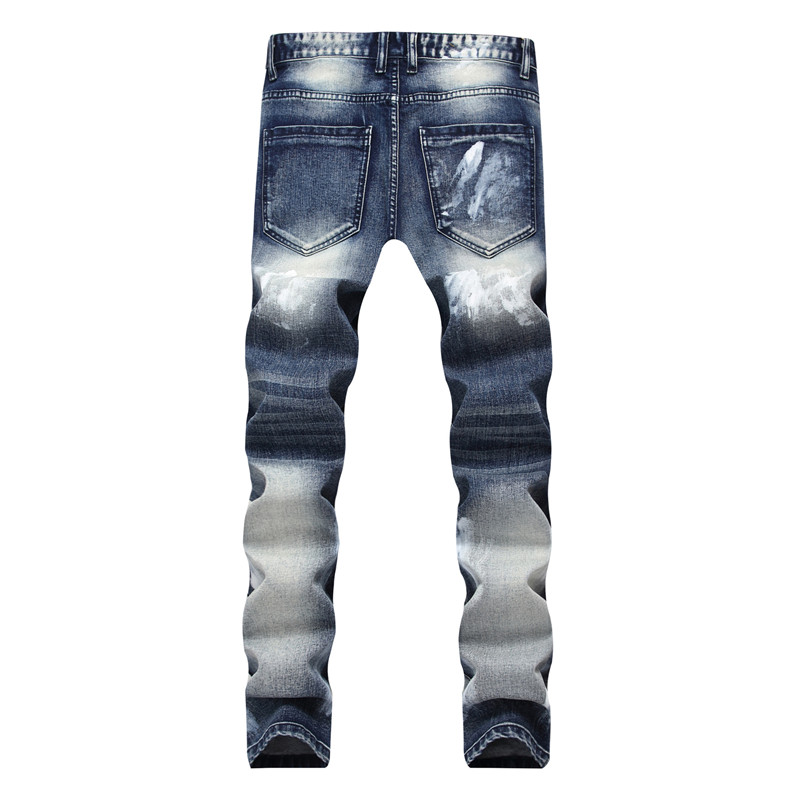 Biker Jeans Pants With Multi Zipper 4
