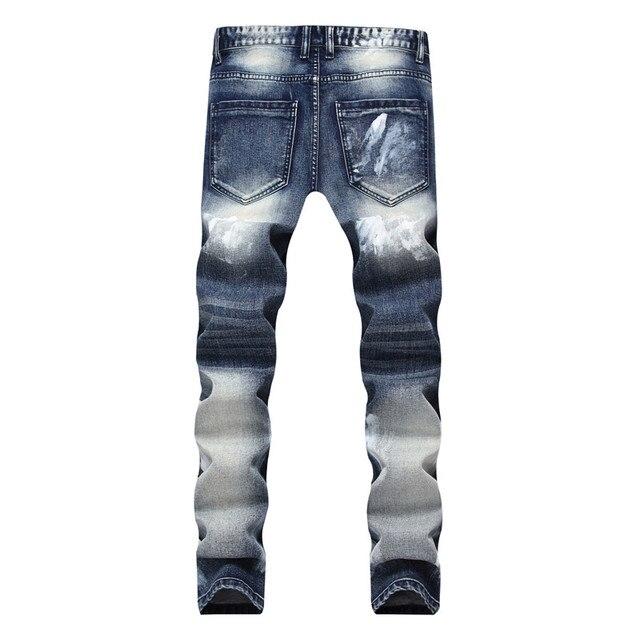 Biker Jeans Pants With Multi Zipper 4