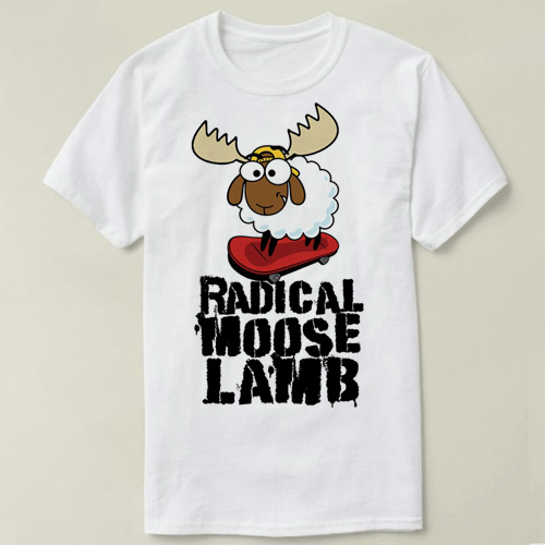 Saturday Night Live Radical Moose Lamb Tee short sleeve women men cotton DIY T-Shirt fas ...