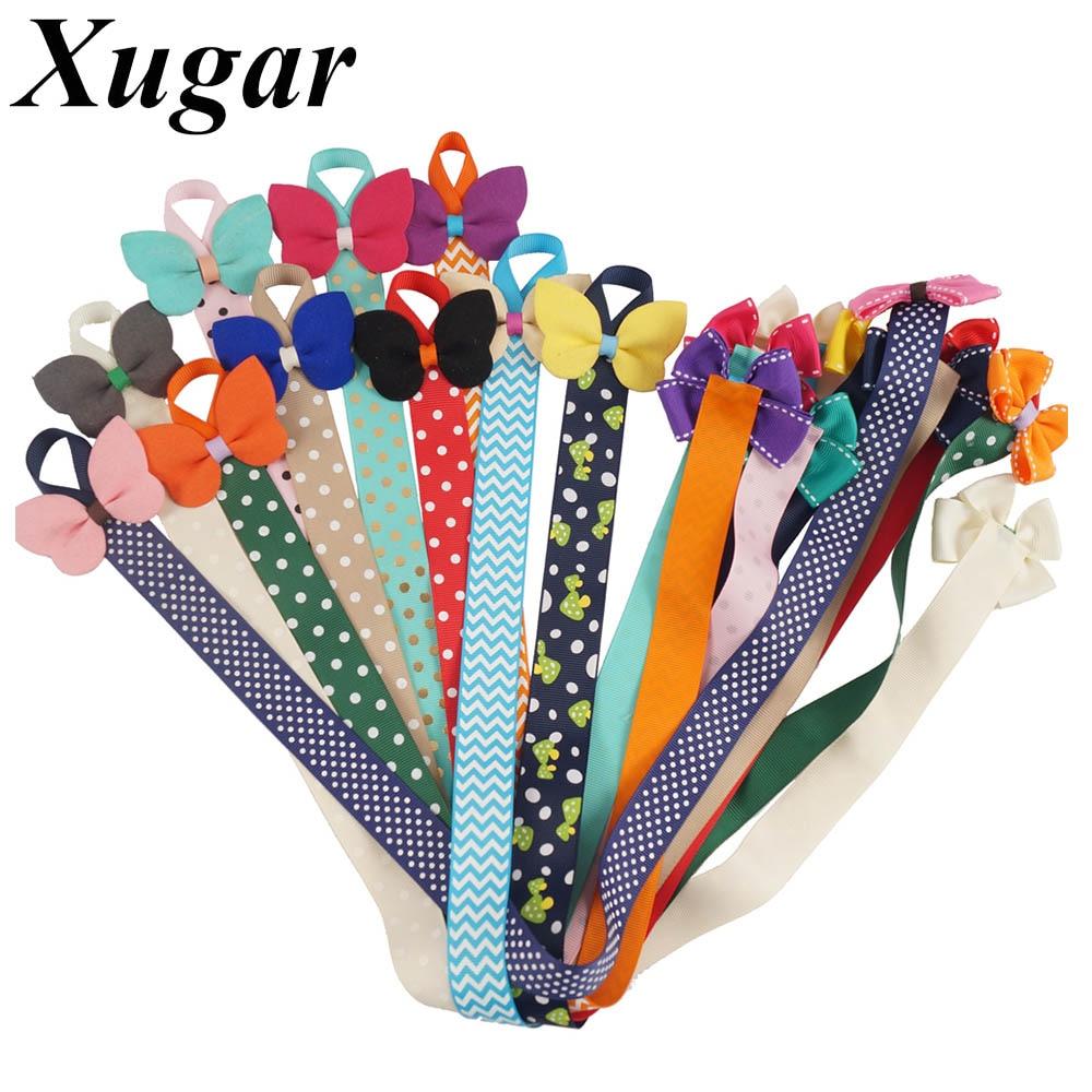 2 Pcs/lot Kids Hairclip Storage Tape with Dot Printed Grosgrain Ribbon Hair Bows Barrette Girls' Hair Accessories Hair Holder