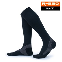 R-BAO 1 Pair High-quality Marathon Mens Cycling Socks Compression Running Outdoor Sports Long Knee High Bicycle