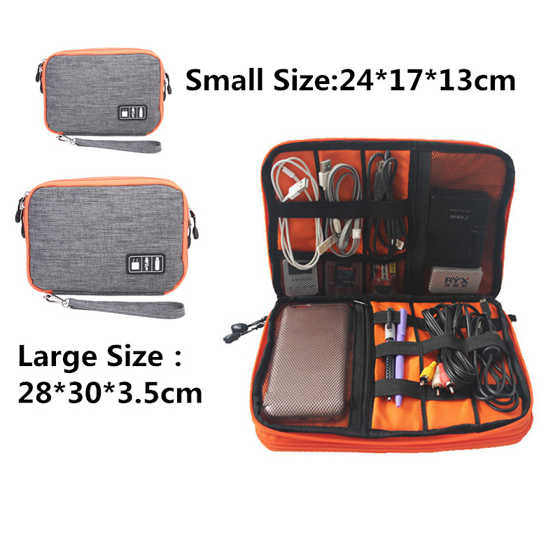 Waterproof Double Layer Cable Storage Bag Electronic Organizer Gadget Travel Usb Earphone Case Gigital Organizador Ic876982 In Bags From Home