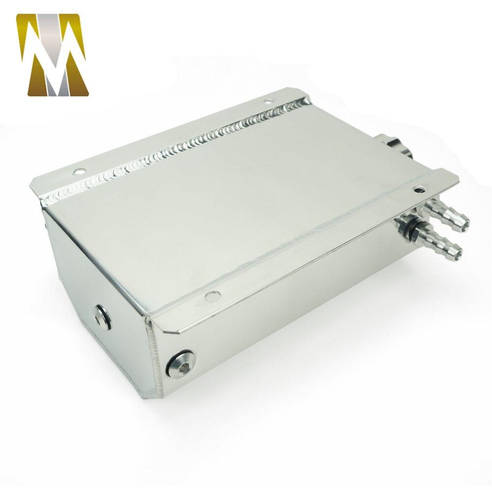 Autoleader 2L bouchon Aluminium réservoir collecteur d'eau liquide de refroidissement radiateur trop plein coffre bidon réservoir Kit de récupération liquide de refroidissement réservoir d'eau - 3
