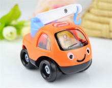4 Styles Creative Pull Back Cartoon Engineering Model Car Diecast Car Toys Vehicles Toy Cars For Children Ramdon Style