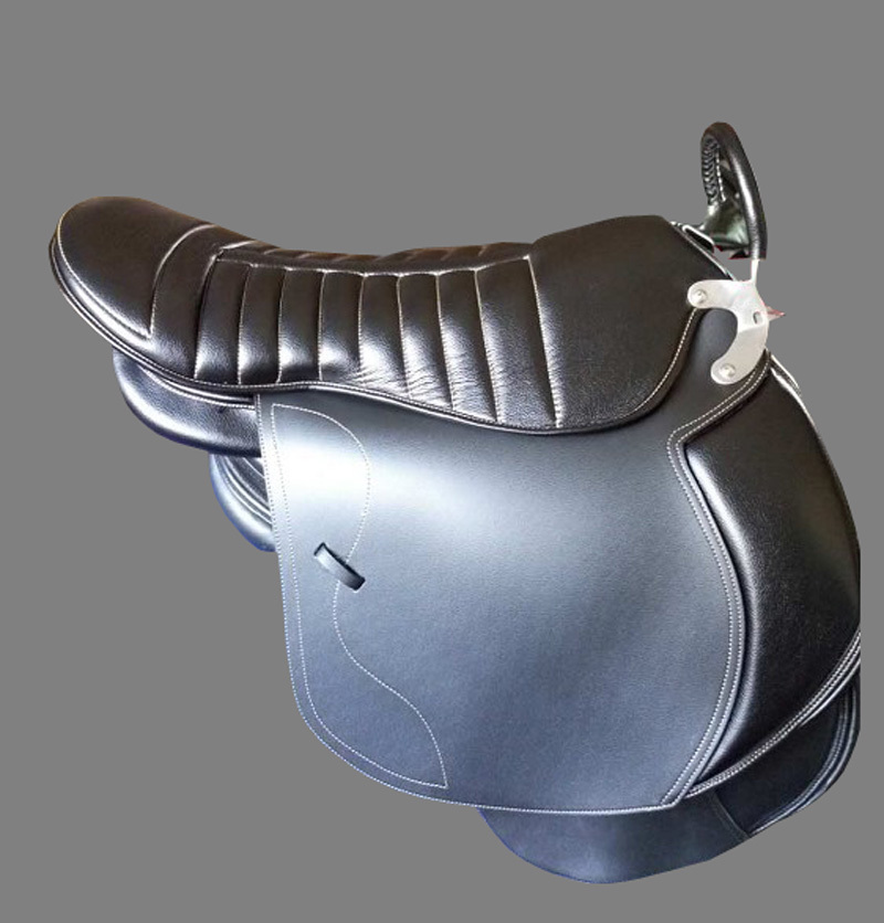 Aoud Saddlery Double-saddle Horse Riding Saddle For Two Person PVC Tourist Parent-child Saddle Comfortable Halters Equestrian