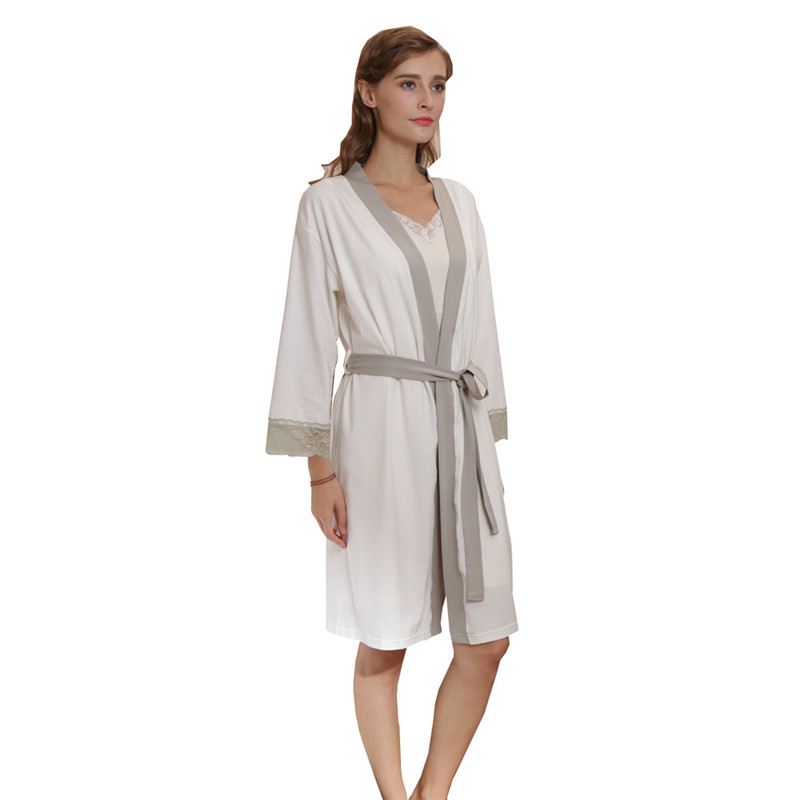Womens Bath Robe Plus Size L-2XL Ladies Waffle Bathrobe Cotton Lightweight Nightgowns Sleepwear Spa Robe 1832