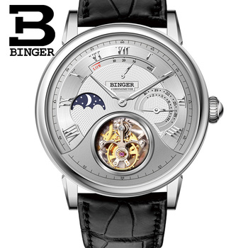 Seagull Tourbillon Mechanical Watch Crocodile Leather Strap Sapphire Men Fashion Skeleton Automatic Watches Waterproof  B-80801 機械 式 腕時計 スケルトン