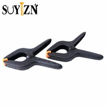 2Pc 9 Inch Heavy Duty Clamp Plastic Nylon Spring Clamp A Type Wood Clamp For Paper Photo Backdrop Background Woodworking ZK262