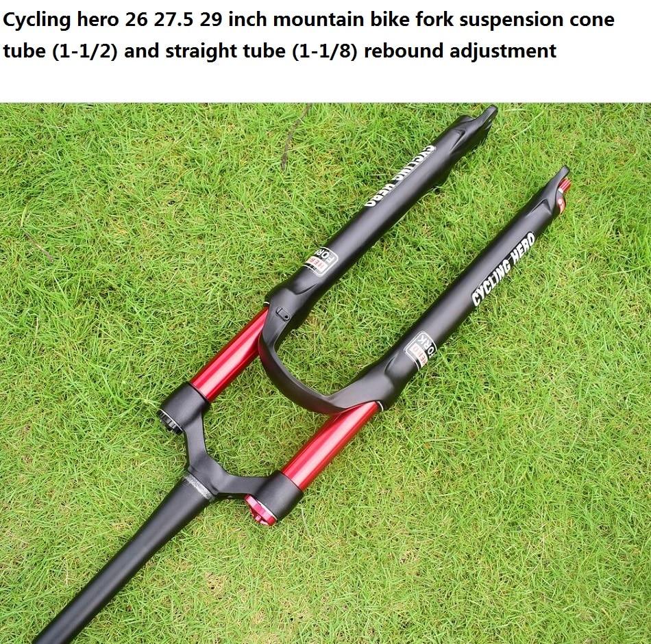 100 120mm Rechte/cone Air mountainbike Voorvering Plug bounce aanpassing 26 27.5 29 inch Optioneel gift VOS sticker - 4
