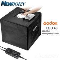 Godox 40 см x 40 см LSD40 Портативный складной фотостудия Softbox свет номер в поле Настольный съемки палатка встроенный светодиодный свет софтбокс