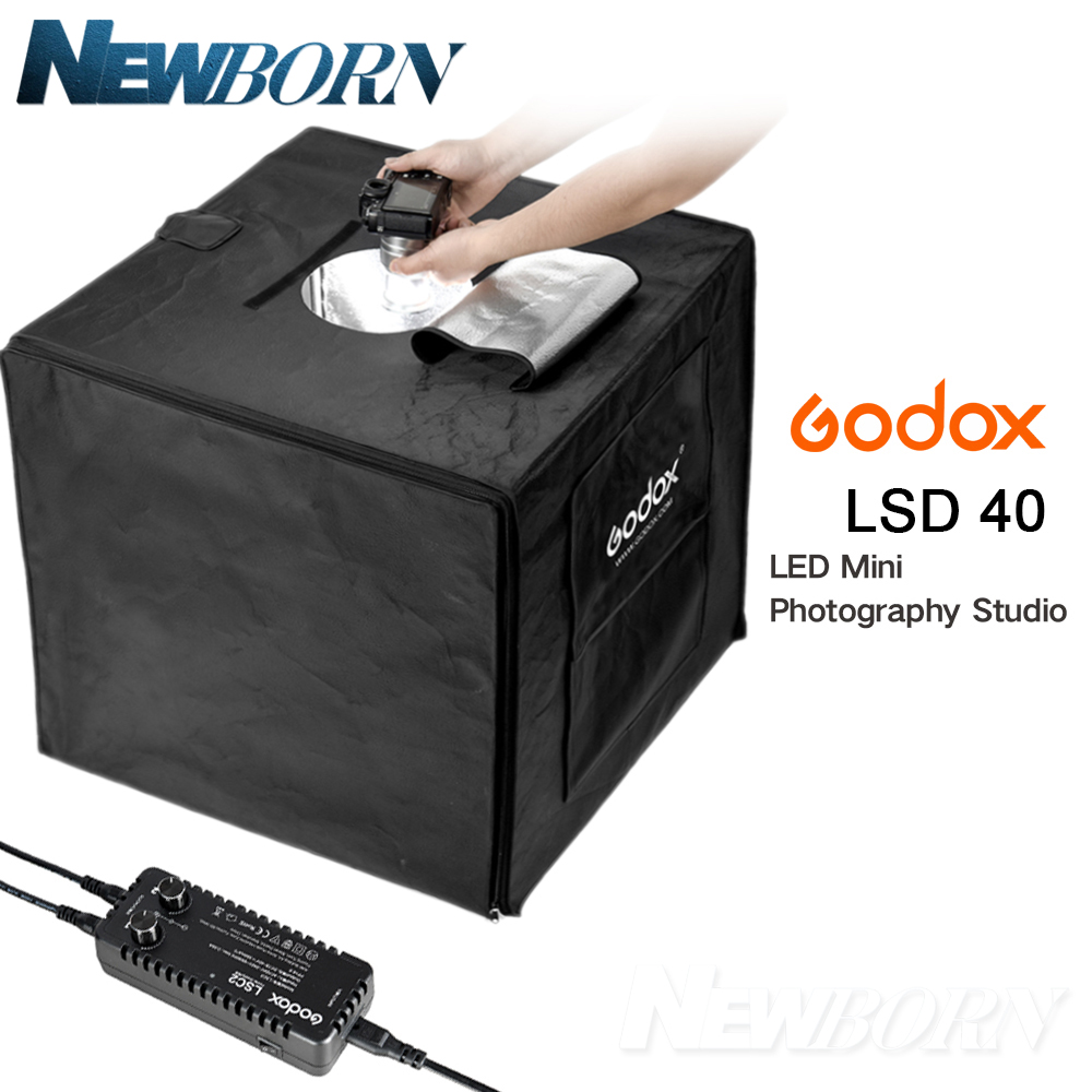Godox 40cm x 40cm LSD40 Portable Foldable Photo Studio Softbox Light Room Box Tabletop Shooting Tent Built In LED Light Soft Box 40cm 40cm studio soft box led shooting light tent photo led light box lichtbak photo tent set portable soft cloth 3 backdrop